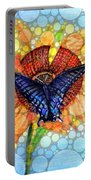Butterfly Sunday After The Rain Portable Battery Charger