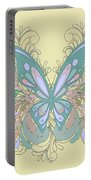 Butterfly Swirls Portable Battery Charger