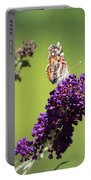 Butterfly With Flowers Portable Battery Charger