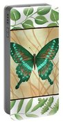 Butterfly With Leaves 2 Portable Battery Charger