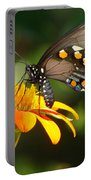 Butterfly With Orange Flower Portable Battery Charger