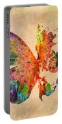 Butterfly World Map  Portable Battery Charger