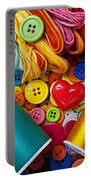 Buttons And Thread Portable Battery Charger