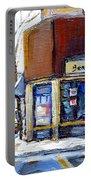 Buy Original Montreal Paintings Beauty's Winter Scenes For Sale Achetez Petits Formats Tableaux  Portable Battery Charger