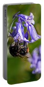 Buzzy Bee On Bluebells Portable Battery Charger