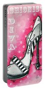 By Pink Design By Madart Portable Battery Charger