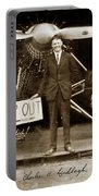 Charles A. Lindbergh And Spirit Of St. Louis 1927 Portable Battery Charger