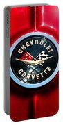 C2 Corvette Logo Portable Battery Charger