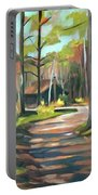 Cabin By The Lake En Plein Air Portable Battery Charger