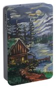 Cabin In The Mountains Portable Battery Charger
