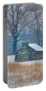 Cabin In The Snow - Valley Forge Portable Battery Charger