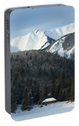 Cabin On Frozen Lake Portable Battery Charger