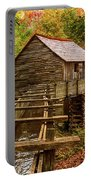 Cable Mill Cades Cove Smoky Mountains Tennessee In Autumn Portable Battery Charger