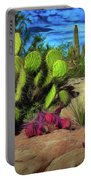 Cacti And Rock Portable Battery Charger