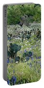 Cactus And Willow-wildflowers Of Texas Portable Battery Charger