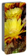 Cactus Bloom In Yellow 050715ab Portable Battery Charger