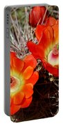 Cactus Flower Twins Portable Battery Charger