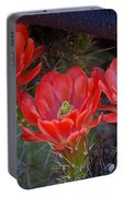 Cactus Flowers Portable Battery Charger
