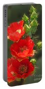 Cactus Red Beauty Portable Battery Charger