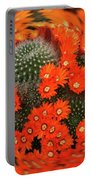 Cactus Swirl Portable Battery Charger