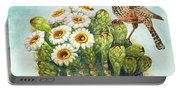 Cactus Wren And Saguaro Portable Battery Charger