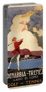 Cadenabbia Tremezzo, Golf And Tennis - Golf Club - Retro Travel Poster - Vintage Poster Portable Battery Charger