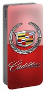 Cadillac - 3 D Badge On Red Portable Battery Charger