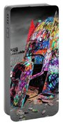 Cadillac Ranch Spray Paint Fun Along Historic Route 66 By Amarillo Texas Portable Battery Charger