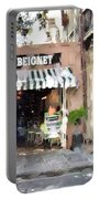 Cafe Beignet Summer Day Portable Battery Charger