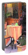 Cafe In Montepulciano Tuscany Portable Battery Charger
