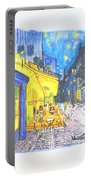 Cafe Terrace At Night - Van Gogh Portable Battery Charger