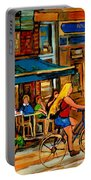 Cafes With Blue Awnings Portable Battery Charger