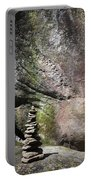 Cairn Rock Stack At Jones Gap State Park Portable Battery Charger by Kelly Hazel