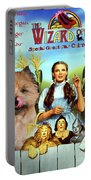 Cairn Terrier Art Canvas Print - The Wizard Of Oz Movie Poster Portable Battery Charger