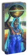 Calabash Lady In Blue Portable Battery Charger