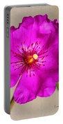 Calandrinia Flower Portable Battery Charger