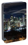 Calgary Skyline At Night Portable Battery Charger