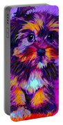 Calico Dog Portable Battery Charger by Jane Schnetlage