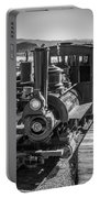 Calico Odessa Train In Black And White Portable Battery Charger