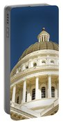 California Capitol Cupola And Flag Portable Battery Charger