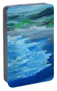California Coastline Impressionism Portable Battery Charger