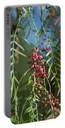 California Pepper Tree Leaves Berries Abstract Portable Battery Charger