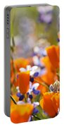 California Poppies And Lupine Portable Battery Charger