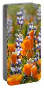 California Poppies And Lupine Wildflowers Portable Battery Charger