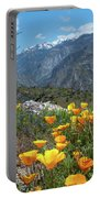 California Poppy And Mountain Panorama Portable Battery Charger