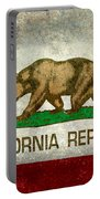 California Republic State Flag Retro Style Portable Battery Charger