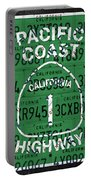 California Route 1 Pacific Coast Highway Sign Recycled Vintage License Plate Art Portable Battery Charger