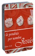 Call His Name Jesus Spanish Portable Battery Charger