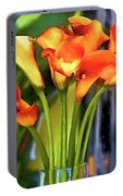 Calla Lilies Bouquet Portable Battery Charger