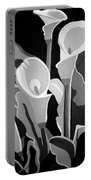 Calla Lilies Bw Portable Battery Charger
